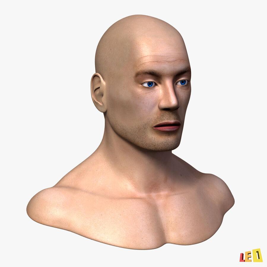 Anatomie complète de la tête masculine royalty-free 3d model - Preview no. 2