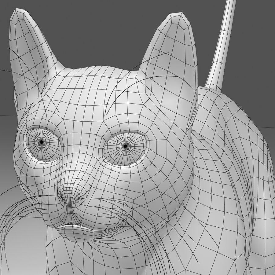 Cat Orange royalty-free 3d model - Preview no. 8