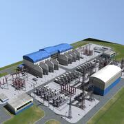 Electrical substation 3d model