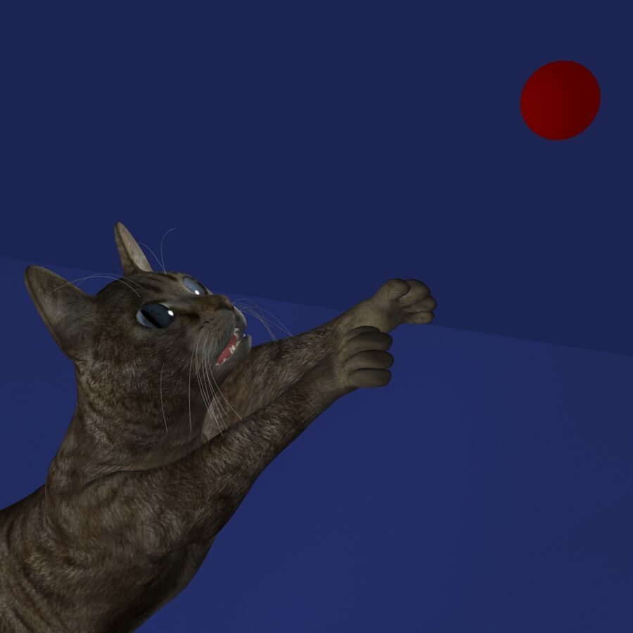 Cat Rigged royalty-free 3d model - Preview no. 13