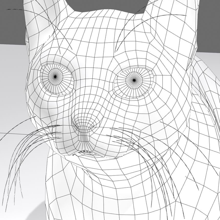 Cat Rigged royalty-free 3d model - Preview no. 18