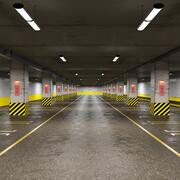 Underground Parking Without Cars 3d model