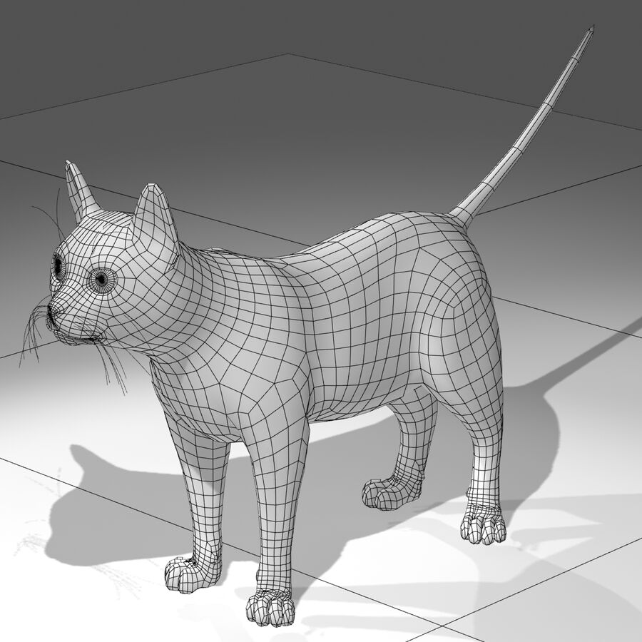 Cat Light royalty-free 3d model - Preview no. 4