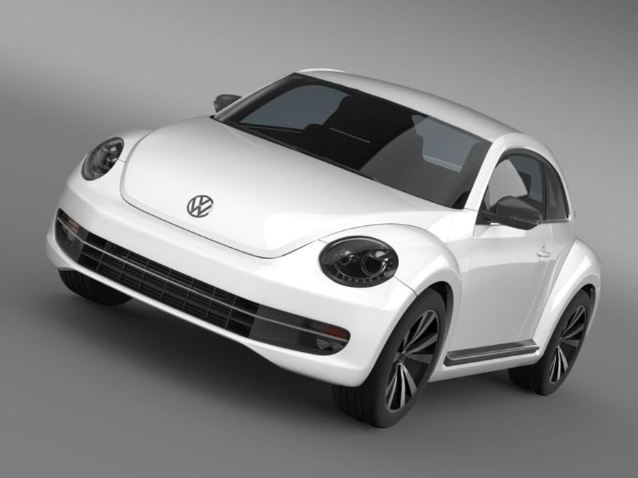 VW Beetle 2012 royalty-free 3d model - Preview no. 13