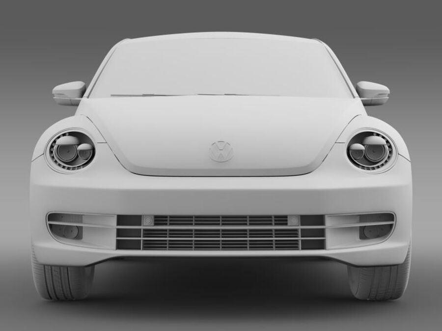 VW Beetle 2012 royalty-free 3d model - Preview no. 15