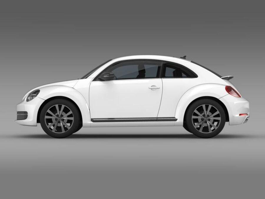 VW Beetle 2012 royalty-free 3d model - Preview no. 4