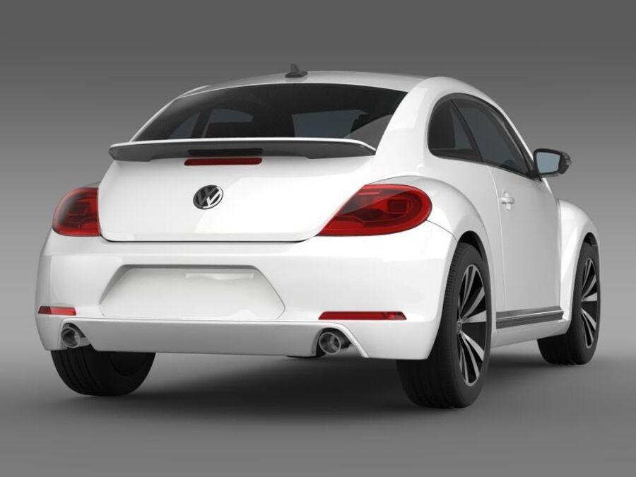 VW Beetle 2012 royalty-free 3d model - Preview no. 7