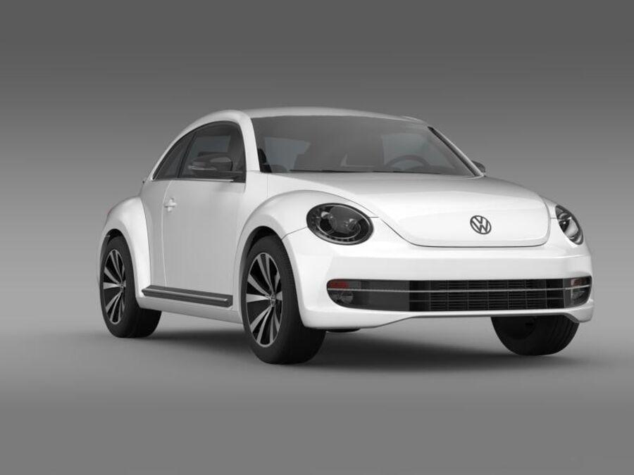 VW Beetle 2012 royalty-free 3d model - Preview no. 12