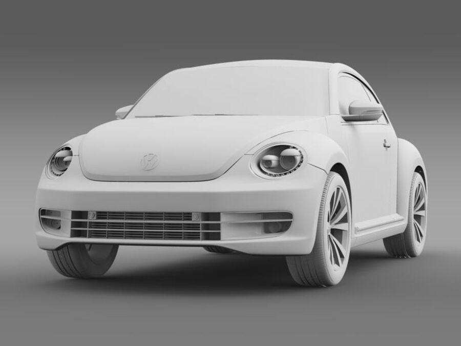 VW Beetle 2012 royalty-free 3d model - Preview no. 16