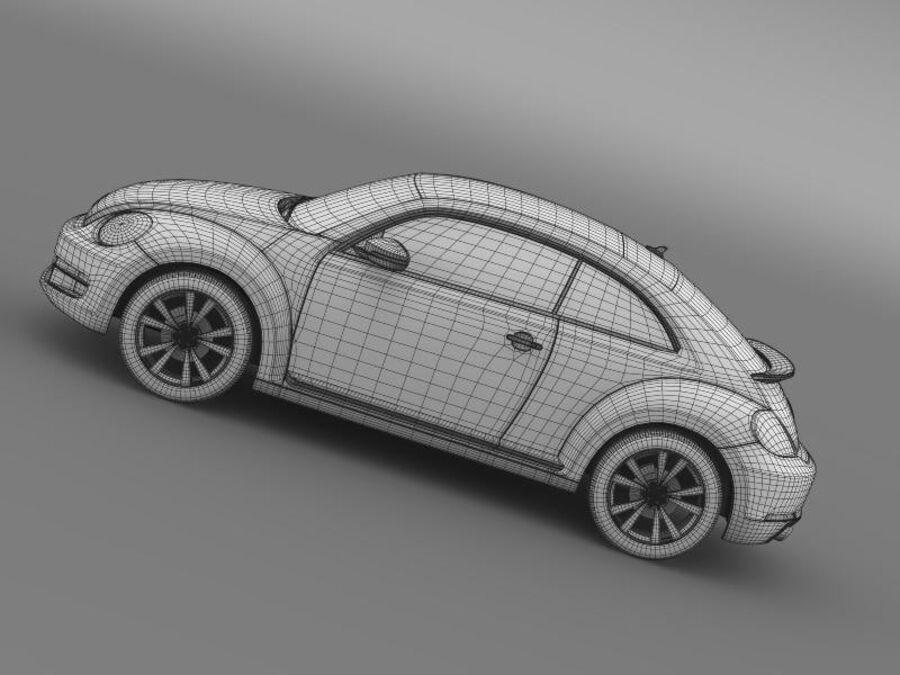 VW Beetle 2012 royalty-free 3d model - Preview no. 20
