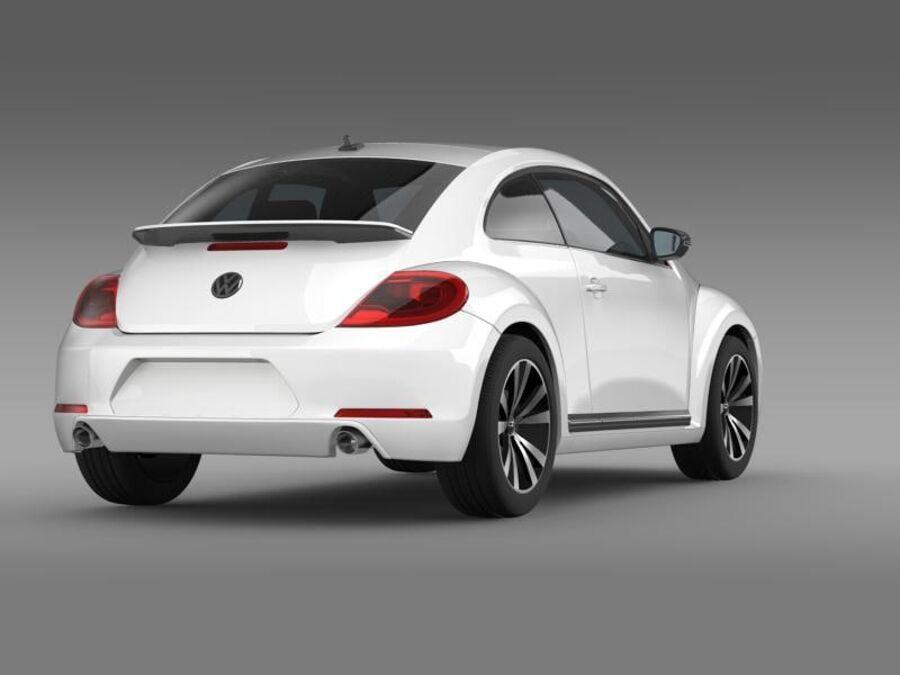 VW Beetle 2012 royalty-free 3d model - Preview no. 8