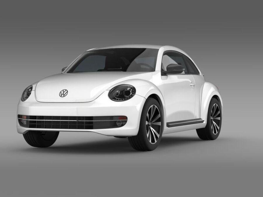 VW Beetle 2012 royalty-free 3d model - Preview no. 2