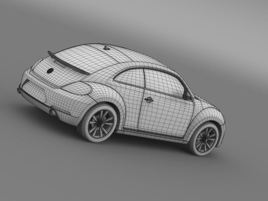 VW Beetle 2012 royalty-free 3d model - Preview no. 22