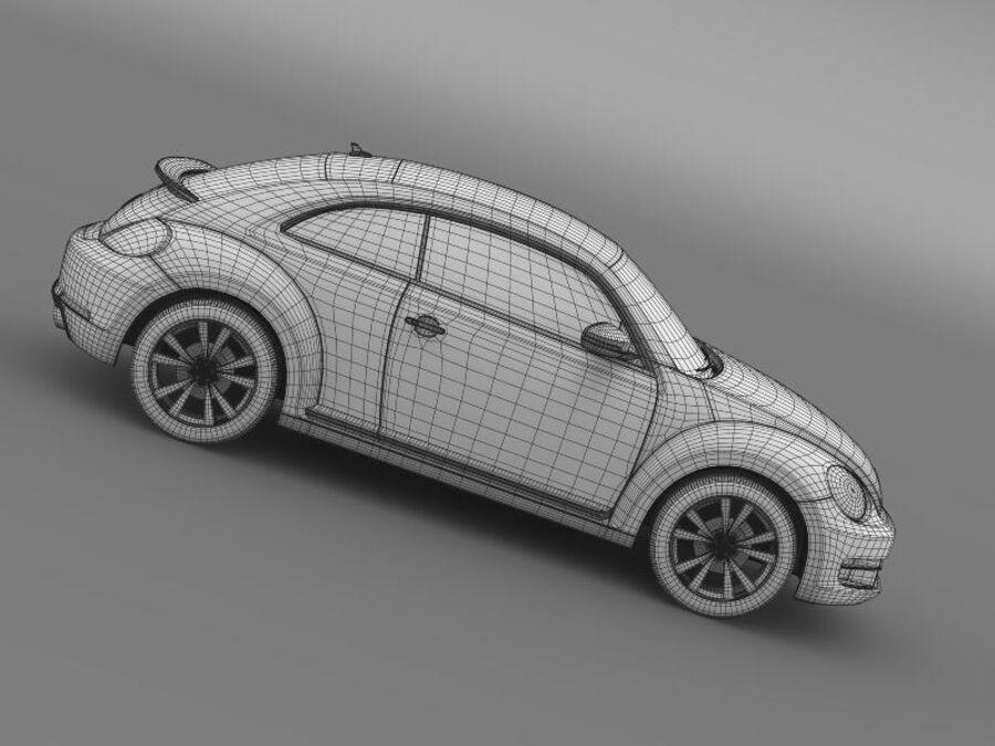 VW Beetle 2012 royalty-free 3d model - Preview no. 23