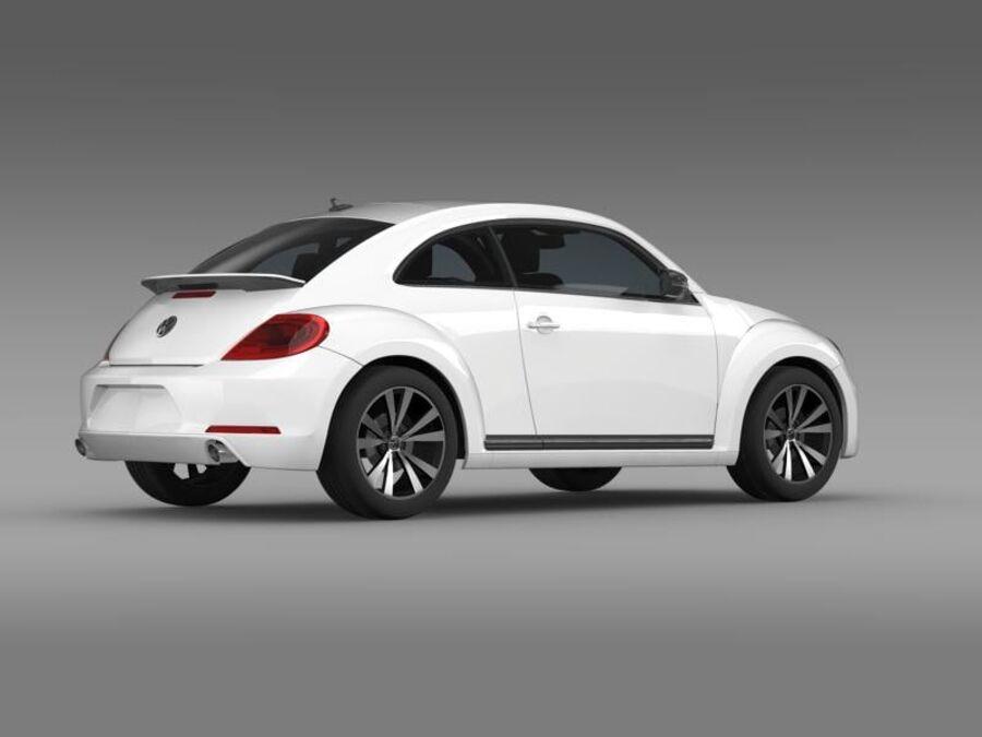 VW Beetle 2012 royalty-free 3d model - Preview no. 9