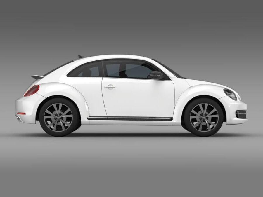 VW Beetle 2012 royalty-free 3d model - Preview no. 10