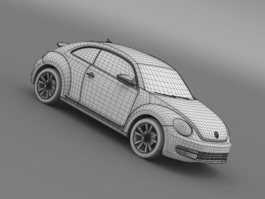 VW Beetle 2012 royalty-free 3d model - Preview no. 24