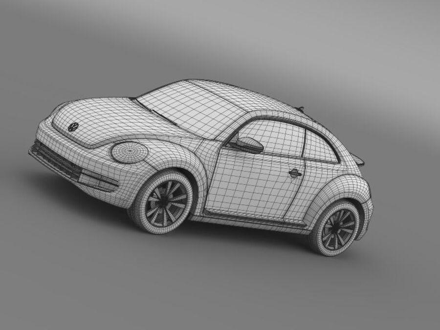 VW Beetle 2012 royalty-free 3d model - Preview no. 19