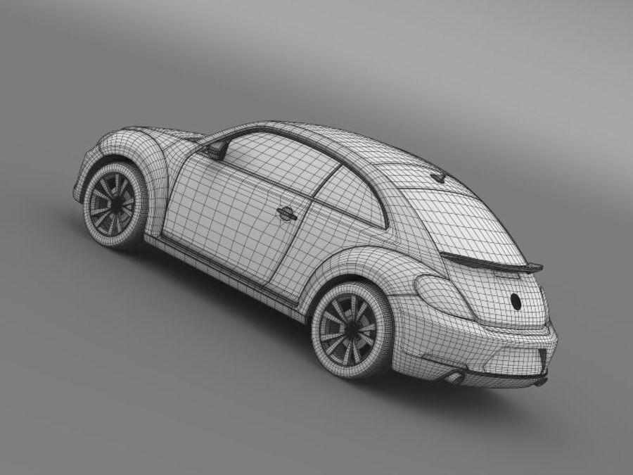 VW Beetle 2012 royalty-free 3d model - Preview no. 21