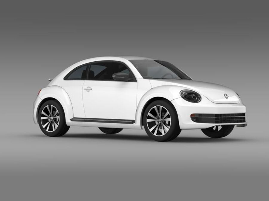 VW Beetle 2012 royalty-free 3d model - Preview no. 11