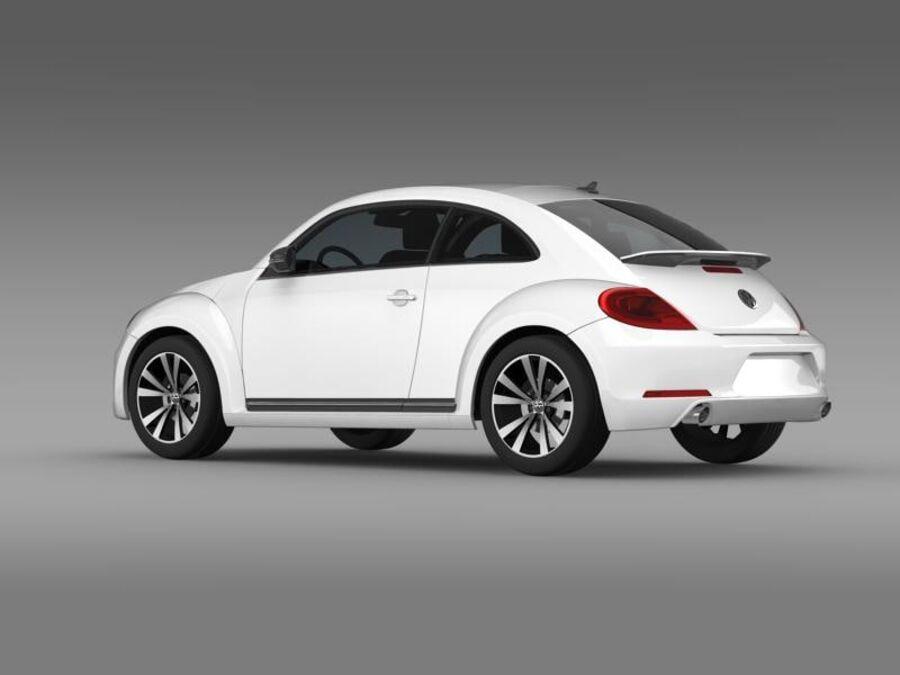 VW Beetle 2012 royalty-free 3d model - Preview no. 5