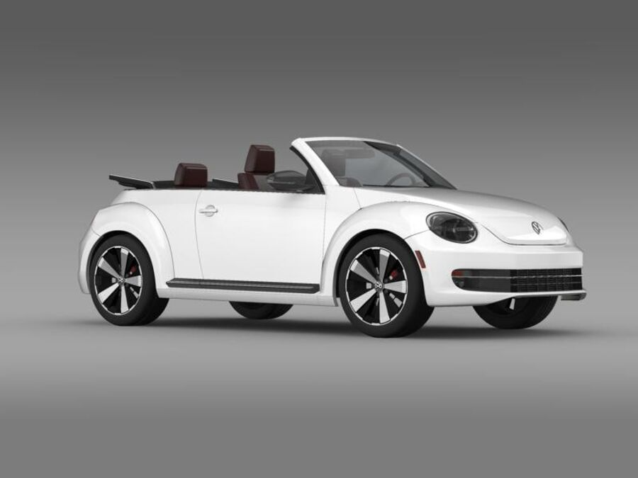VW Beetle Cabrio 2013 royalty-free 3d model - Preview no. 11