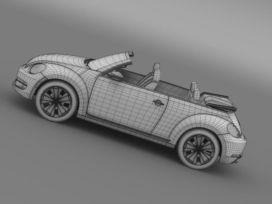 VW Beetle Cabrio 2013 royalty-free 3d model - Preview no. 20