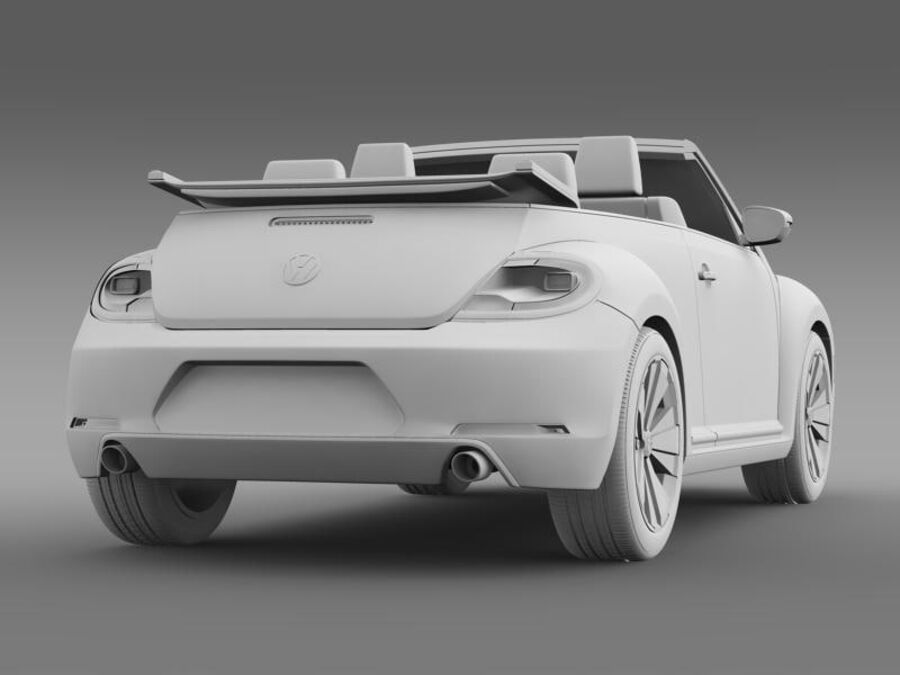 VW Beetle Cabrio 2013 royalty-free 3d model - Preview no. 17
