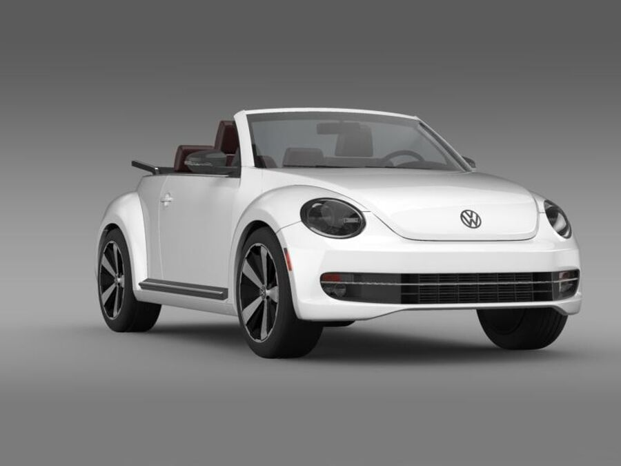 VW Käfer Cabrio 2013 royalty-free 3d model - Preview no. 12