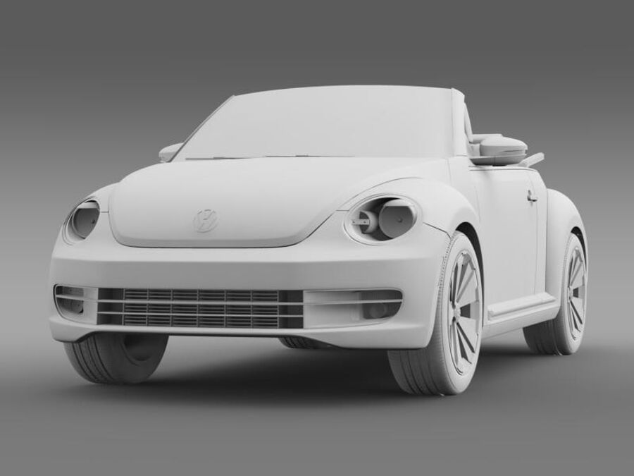 VW Beetle Cabrio 2013 royalty-free 3d model - Preview no. 16