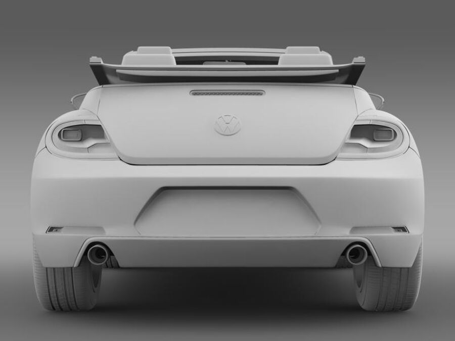 VW Beetle Cabrio 2013 royalty-free 3d model - Preview no. 18