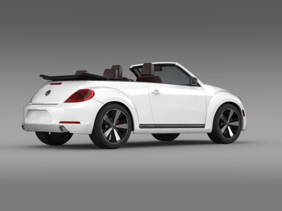 VW Beetle Cabrio 2013 royalty-free 3d model - Preview no. 9