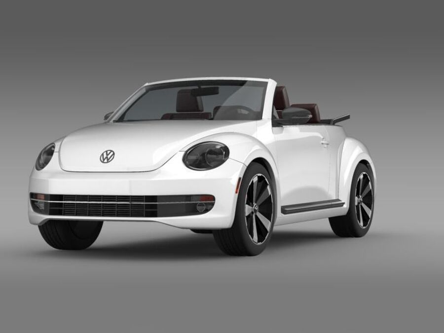 VW Beetle Cabrio 2013 royalty-free 3d model - Preview no. 2