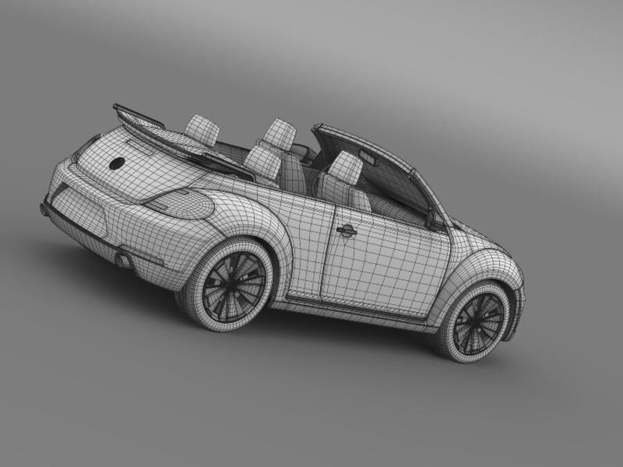 VW Beetle Cabrio 2013 royalty-free 3d model - Preview no. 22