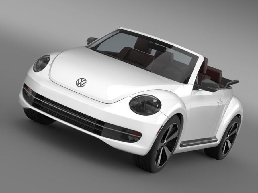 VW Beetle Cabrio 2013 royalty-free 3d model - Preview no. 13
