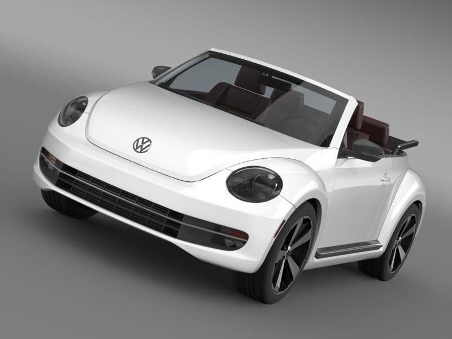 VW Käfer Cabrio 2013 royalty-free 3d model - Preview no. 13