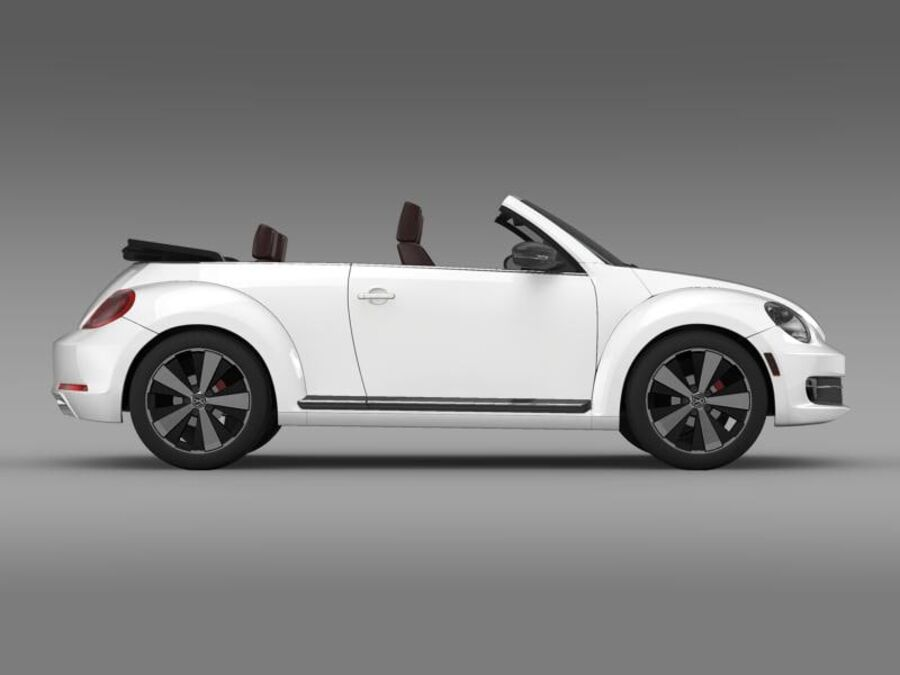 VW Beetle Cabrio 2013 royalty-free 3d model - Preview no. 10