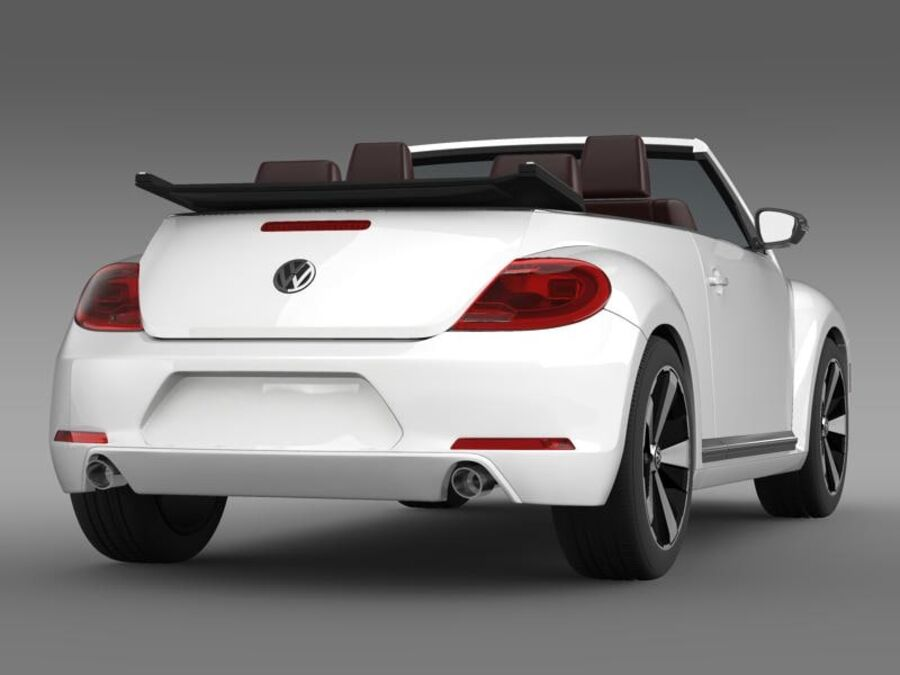 VW Beetle Cabrio 2013 royalty-free 3d model - Preview no. 7
