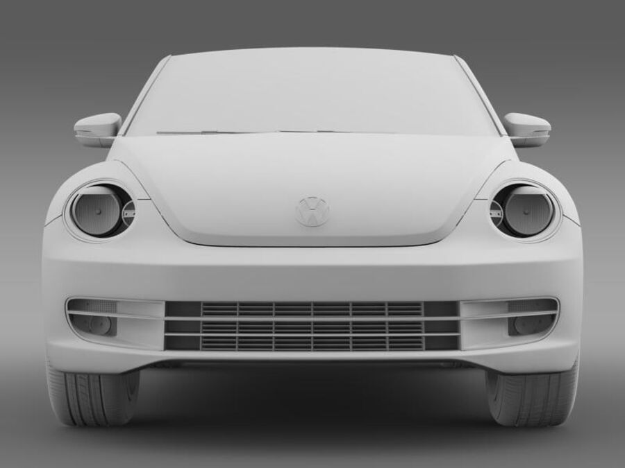 VW Beetle Cabrio 2013 royalty-free 3d model - Preview no. 15