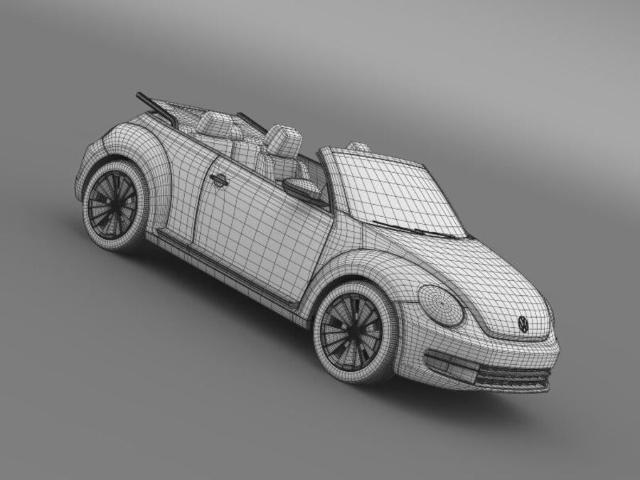 VW Beetle Cabrio 2013 royalty-free 3d model - Preview no. 24