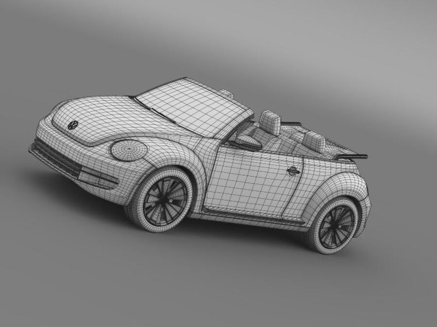 VW Beetle Cabrio 2013 royalty-free 3d model - Preview no. 19