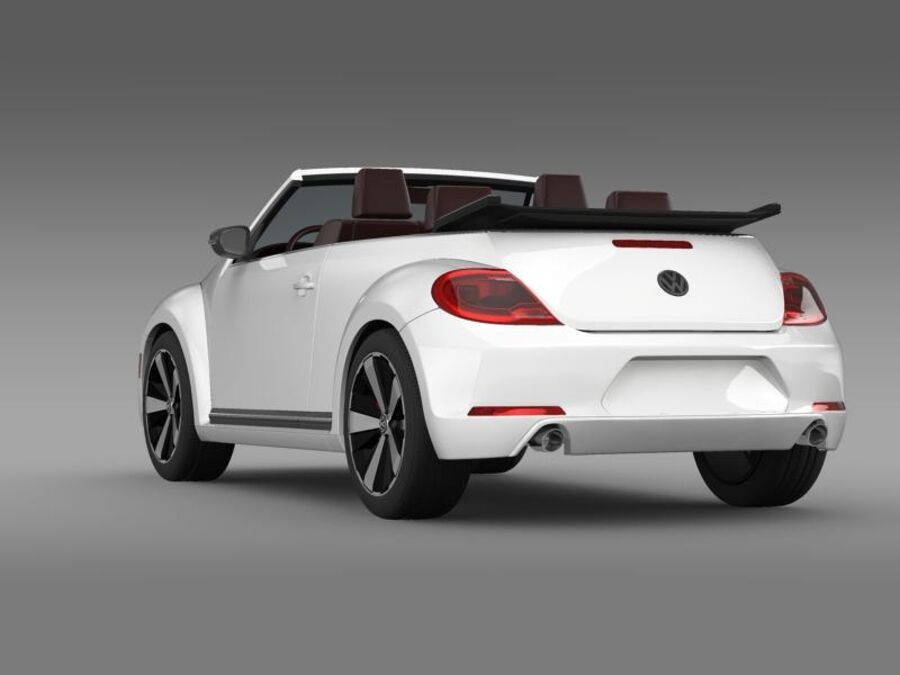 VW Beetle Cabrio 2013 royalty-free 3d model - Preview no. 6