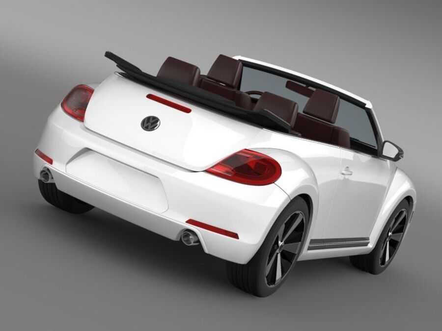VW Beetle Cabrio 2013 royalty-free 3d model - Preview no. 14