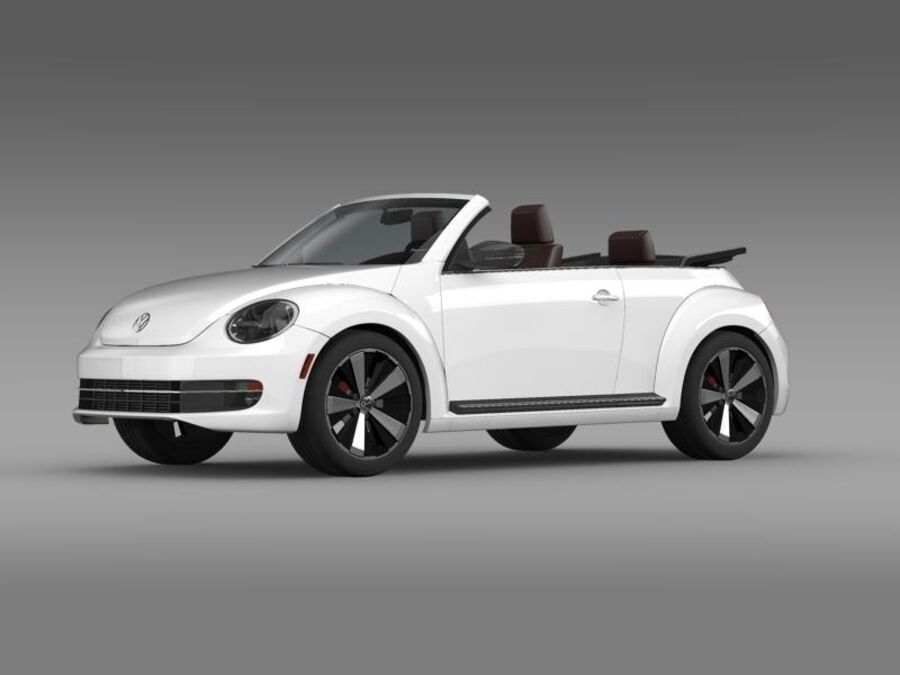 VW Beetle Cabrio 2013 royalty-free 3d model - Preview no. 3