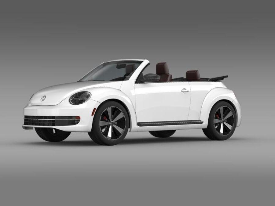 VW Käfer Cabrio 2013 royalty-free 3d model - Preview no. 3