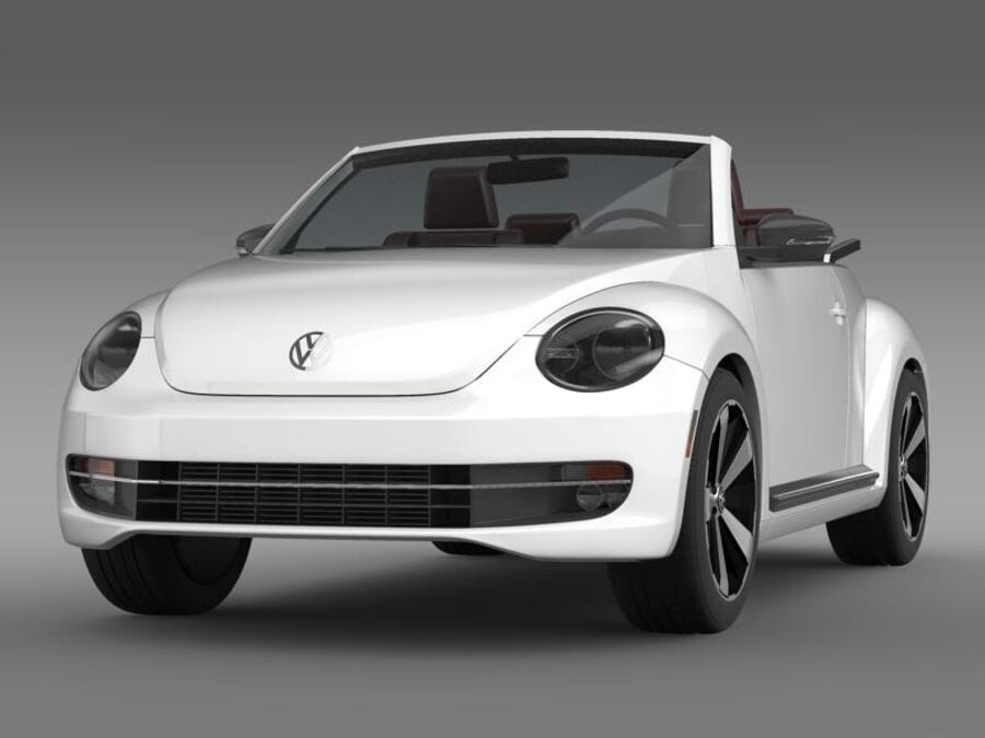 VW Beetle Cabrio 2013 royalty-free 3d model - Preview no. 1