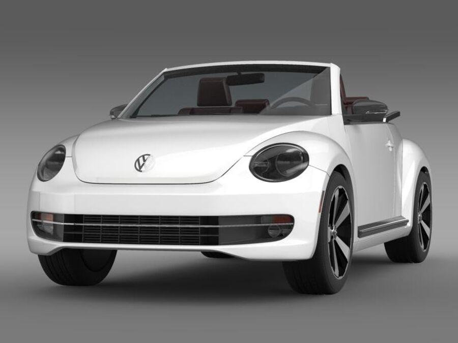 VW Käfer Cabrio 2013 royalty-free 3d model - Preview no. 1