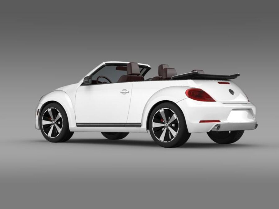 VW Beetle Cabrio 2013 royalty-free 3d model - Preview no. 5