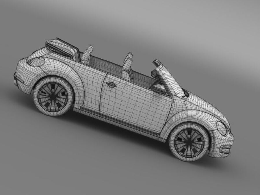 VW Beetle Cabrio 2013 royalty-free 3d model - Preview no. 23