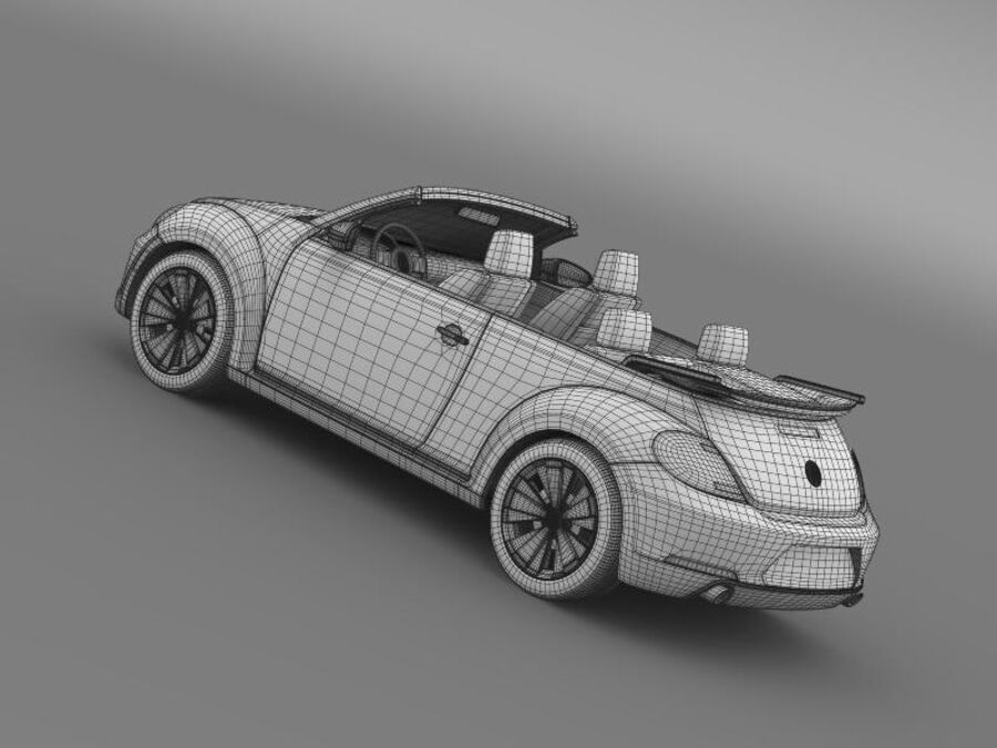VW Beetle Cabrio 2013 royalty-free 3d model - Preview no. 21